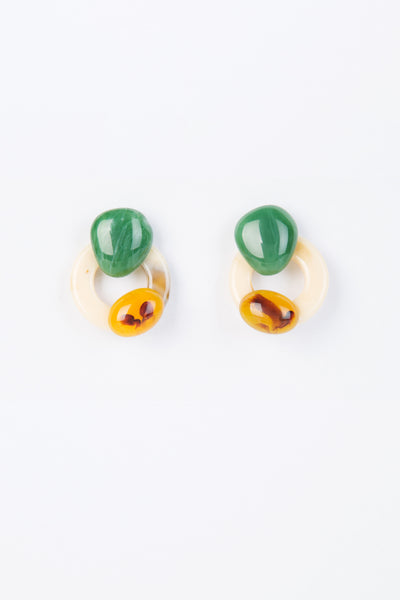 Faux Tortoise Shell Stud Earrings