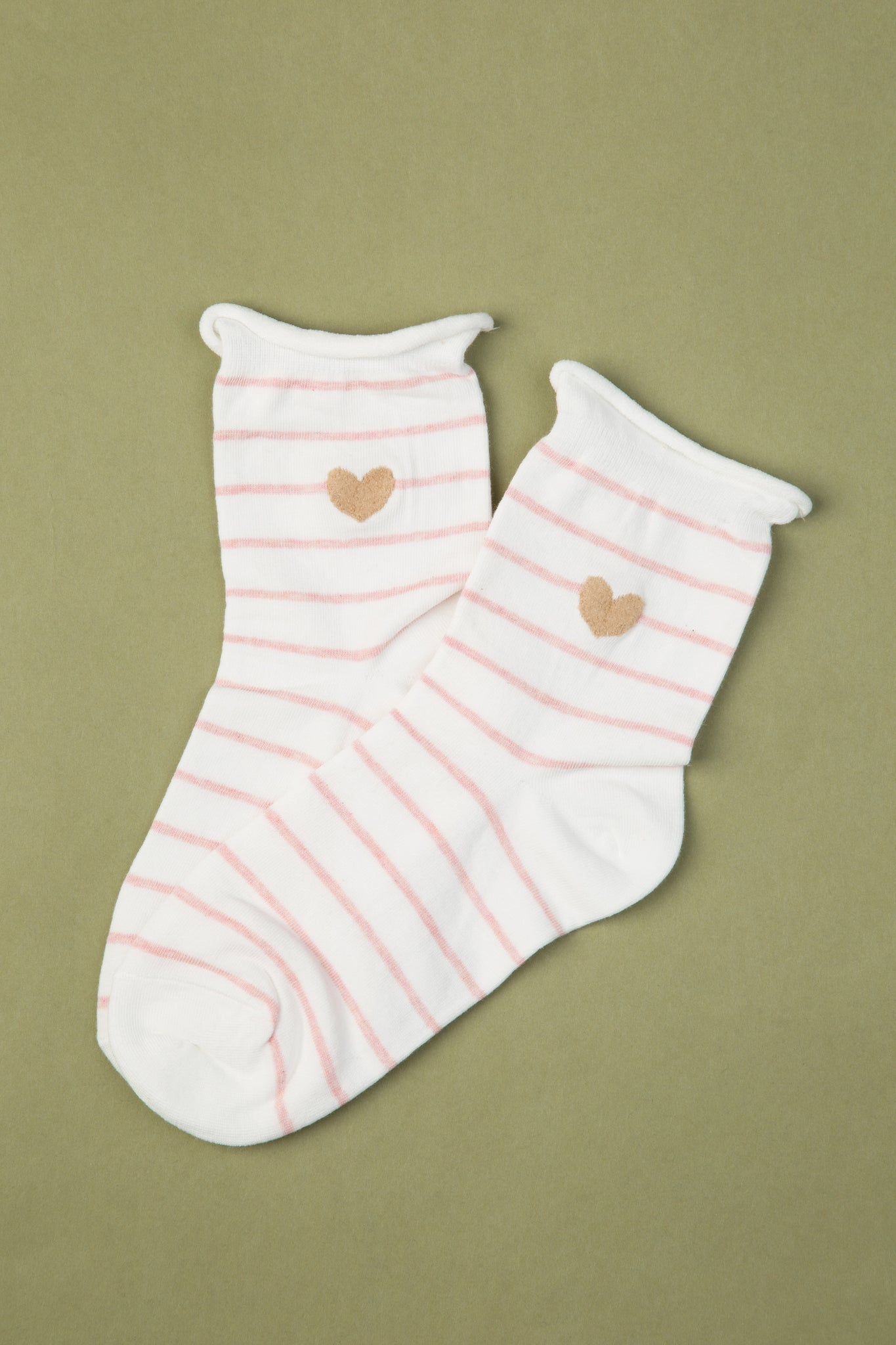 Stripy Heart Socks