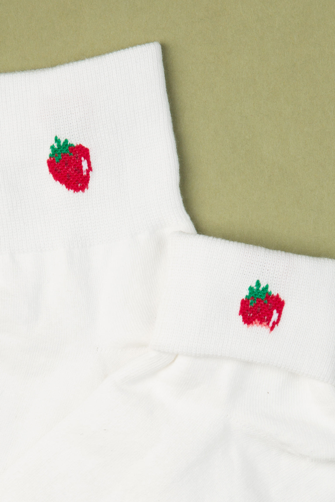 Strawberry Bite Ankle Socks