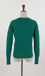 Twig pointelle emerald knit