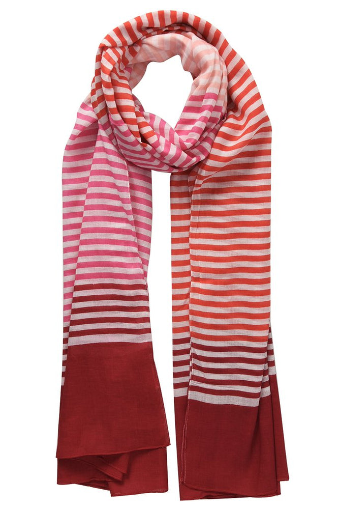 Tri-colour Stripes Scarf 3062PI