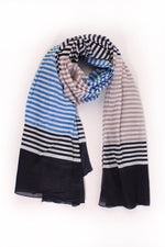Tri-colour Stripes Scarf 3062NB