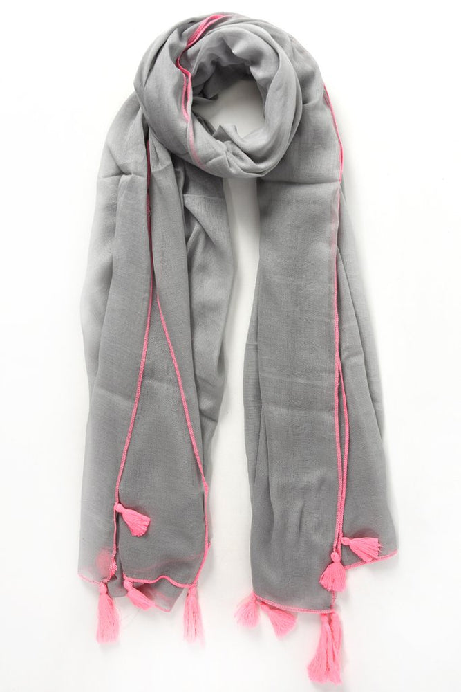 Grey and Pink Scarf 3072GNP