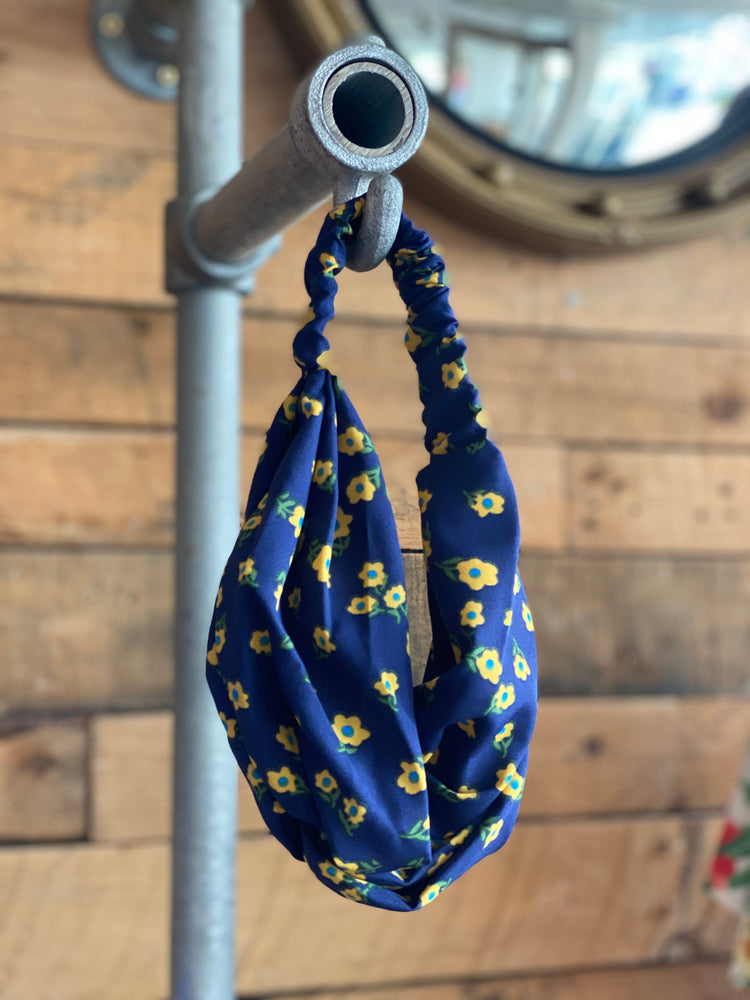 Floral Navy Headscarf