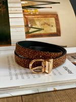 Animal Spot Faux Fur Belt