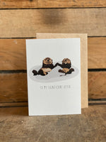Greetings Card Otters 137