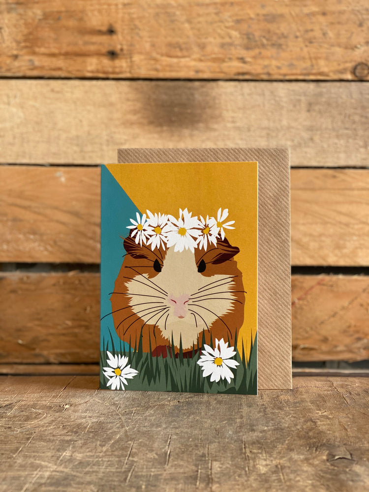 guinea pig greeting card hand drawn
