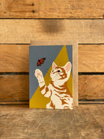 ginger cat greeting card hand drawn