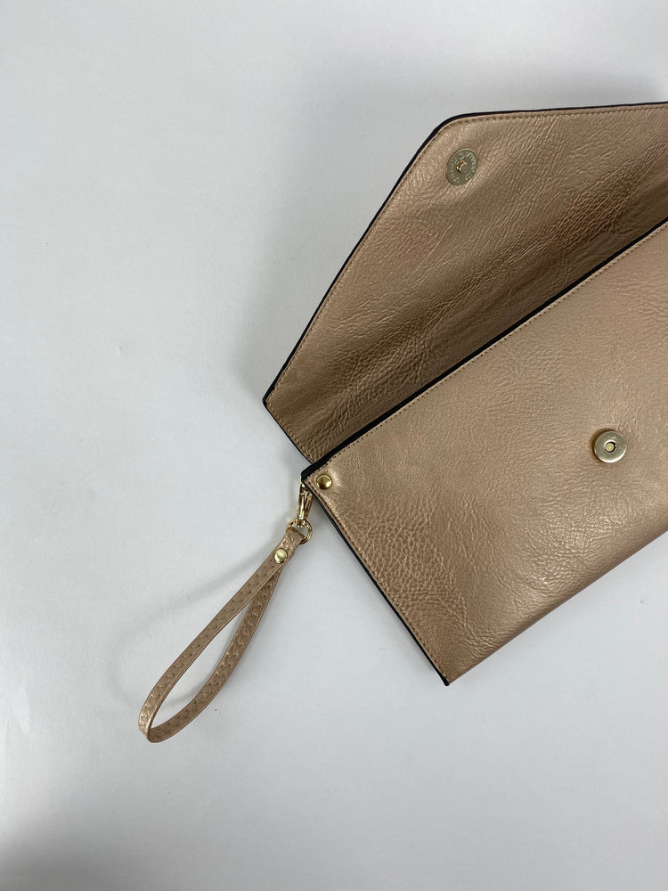 Gold Envelope Clutch Bag