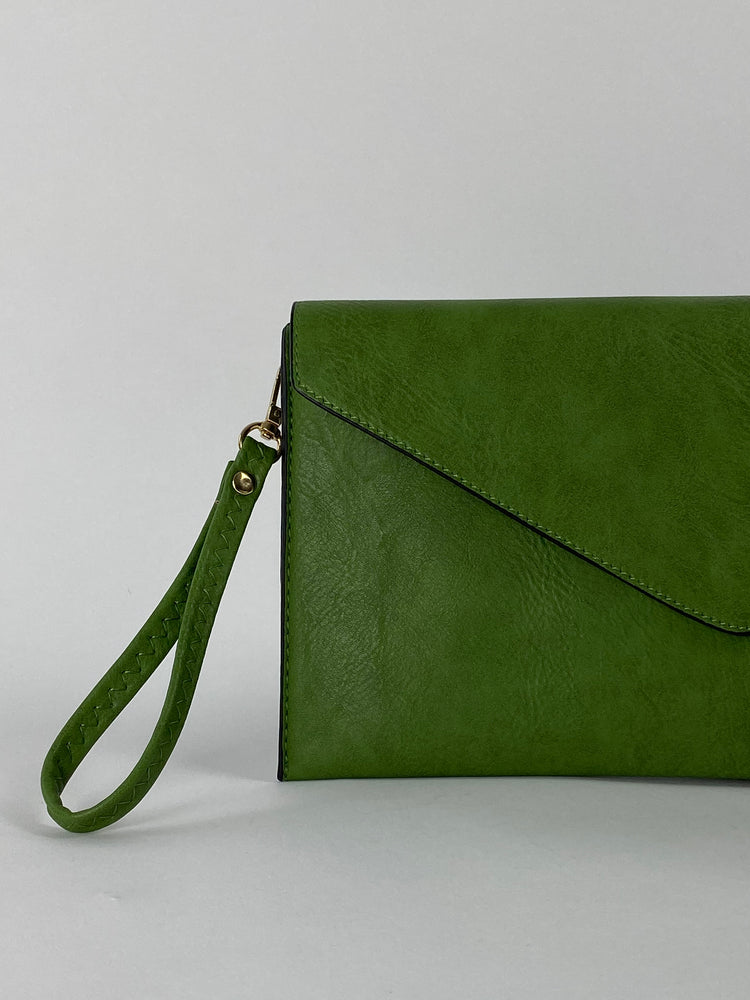 Green Envelope Clutch Bag