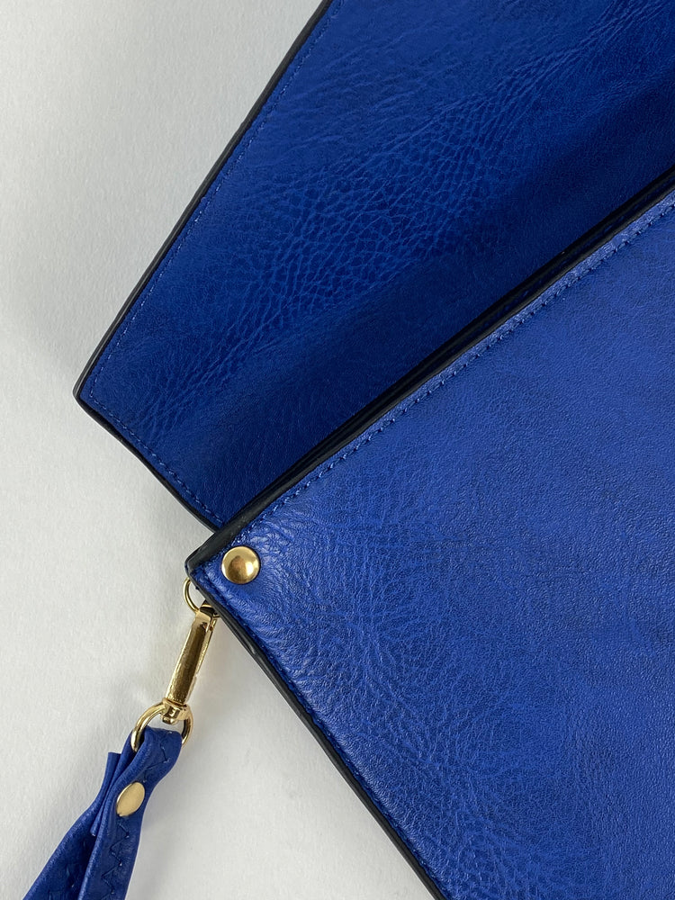Royal blue Envelope Clutch Bag
