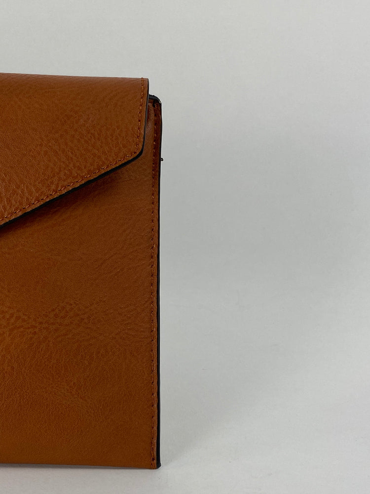 Brown Envelope Clutch Bag
