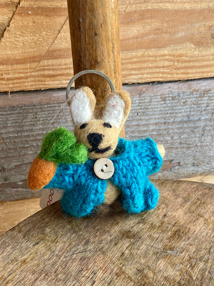 Handmade Fairtrade Keyring Rabbit