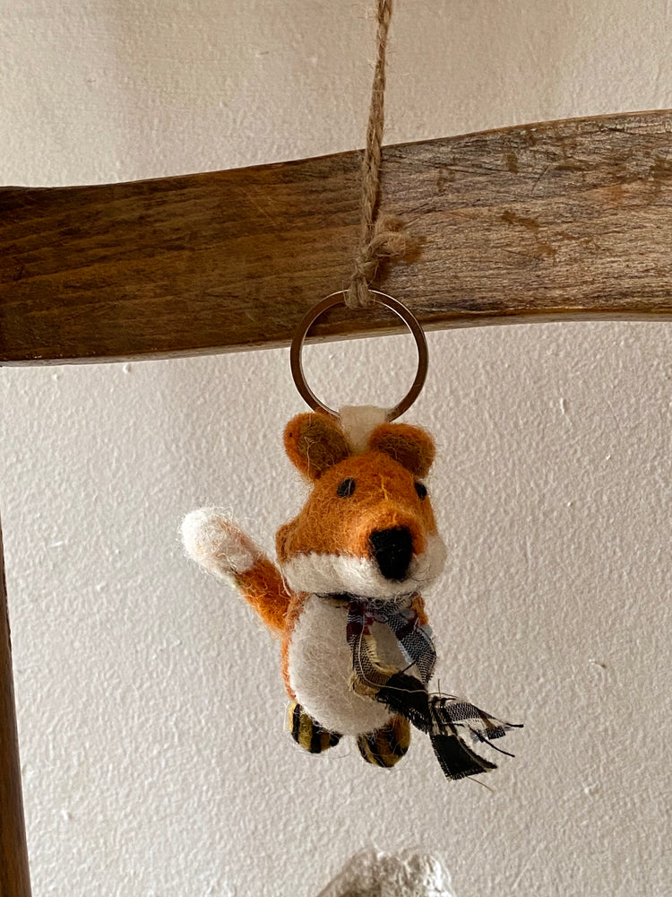 Handmade Fairtrade Keyring Fox
