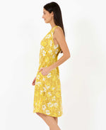 sunny becky dress in yellow mustard - summer dresses pretty vacant - side model