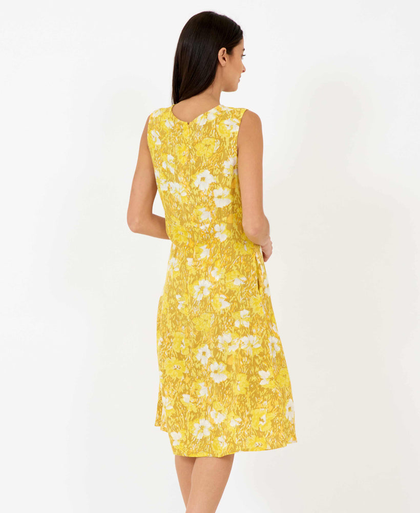 sunny becky dress in yellow mustard - summer dresses pretty vacant - back