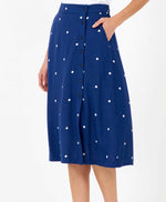 Pretty Vacant billie polka dot skirt midi length front