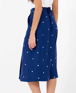 Pretty Vacant billie polka dot skirt midi length back