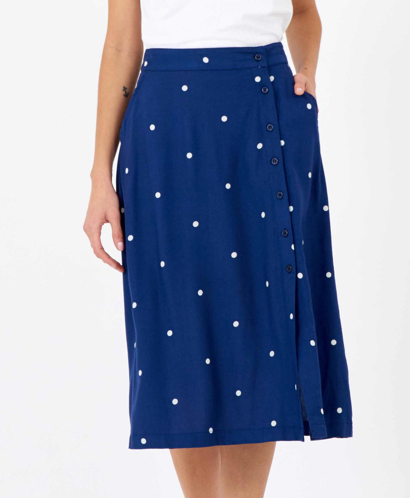 Pretty Vacant billie polka dot skirt midi length
