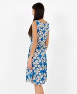 Brook daisy print dress - vintage style floral dress - back with tie