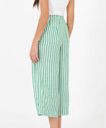 pretty vacant green stripe culottes - summer trousers - back