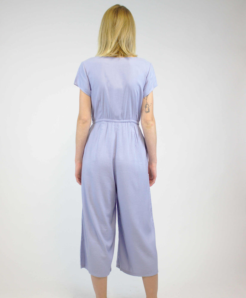 Pretty Vacant powder blue plain playsuit jumpsuit - back