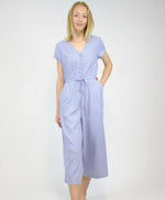Pretty Vacant powder blue plain playsuit jumpsuit