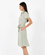 Pretty Vacant Debbie cosmos dress - 60s midi shirt dress - side view