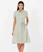 Pretty Vacant Debbie cosmos dress - 60s midi shirt dress