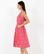 Pretty Vacant Esme Pineapple print dress - midi swing 60s dress- side 2