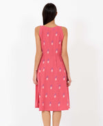 Pretty Vacant Esme Pineapple print dress - midi swing 60s dress - back