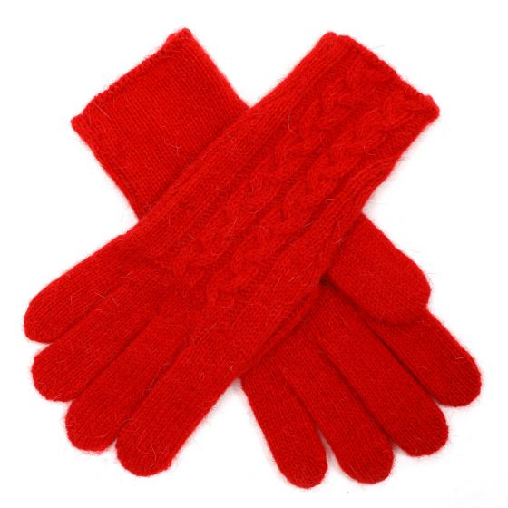 Red Embroidered Gloves G1735