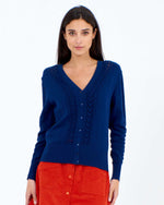 Heart V-Cardigan Navy