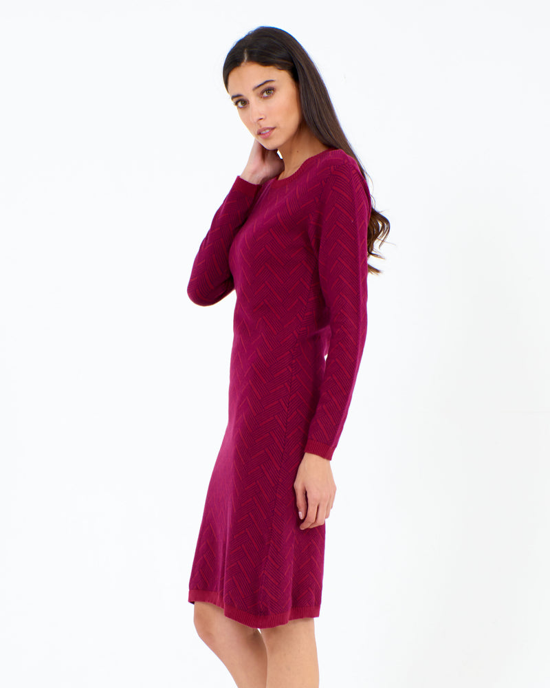 Herringbone Tunic Beet Red