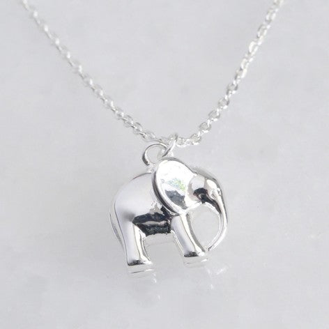 Sterling Silver Plated Elephant Necklace