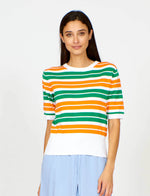 Stripe Knit in Orange/Green