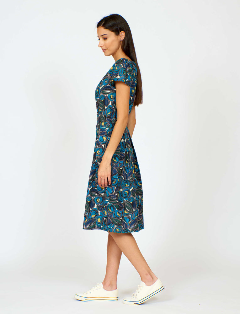 Swing Dress Fruit Bowl Print