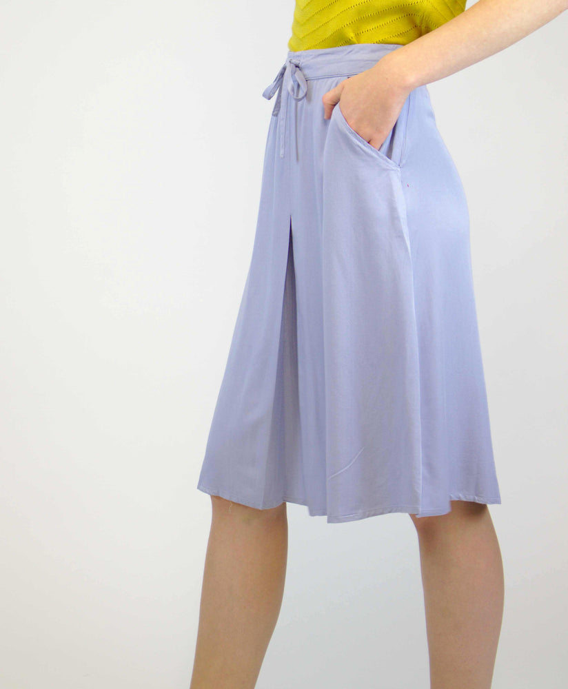 pretty vacant tina powdered blue midi skirt side pocket