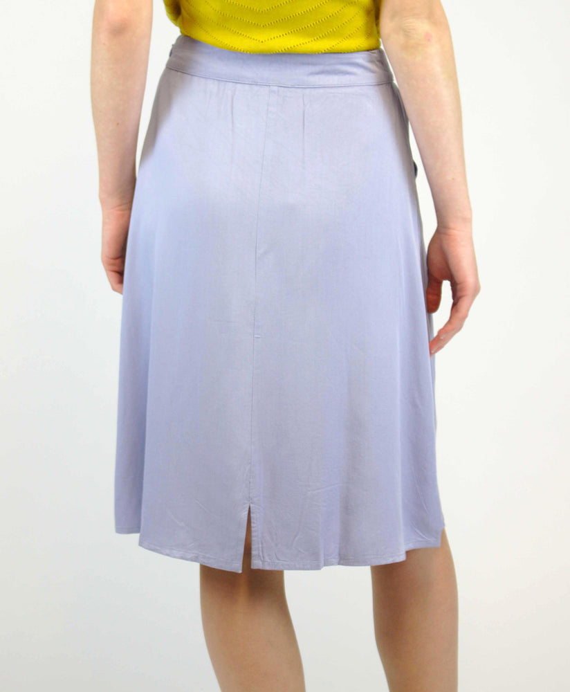 pretty vacant tina powdered blue midi skirt - back