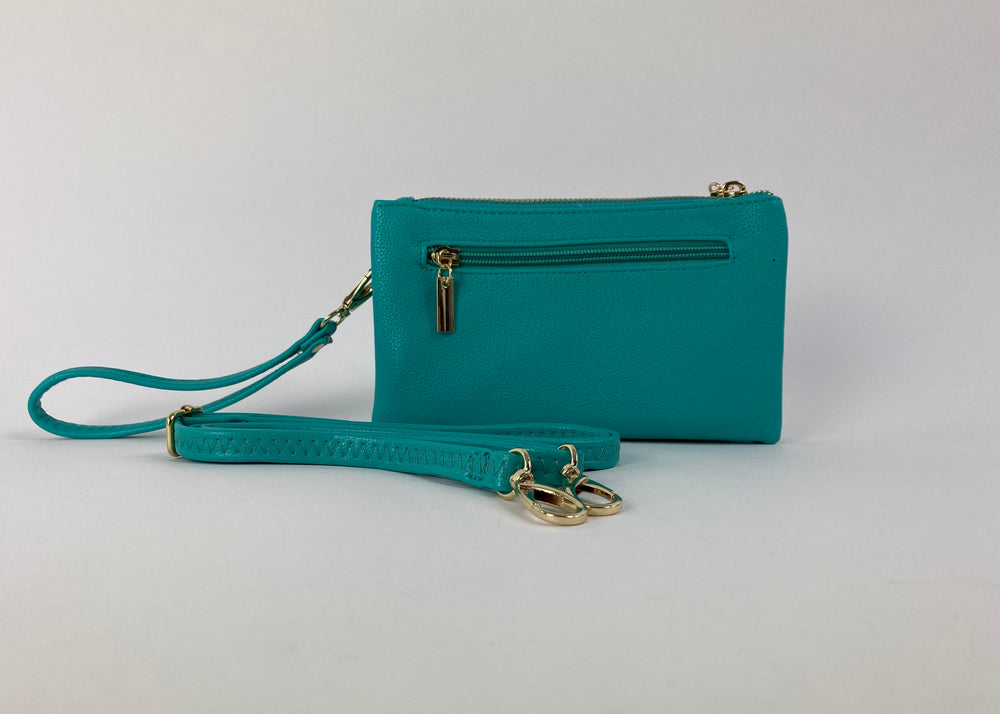 Water green Clutch bag