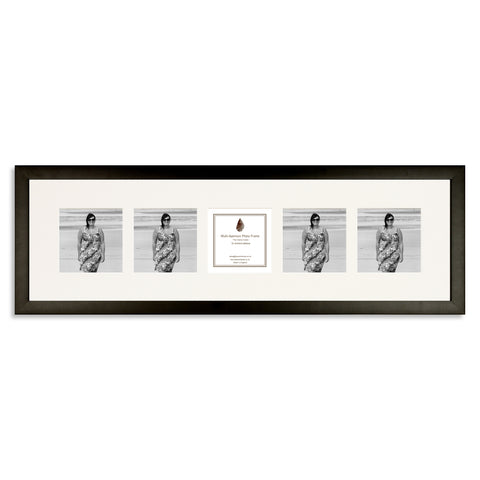 Image of a Matt Black Photo Frame which holds five 4x4inch photos