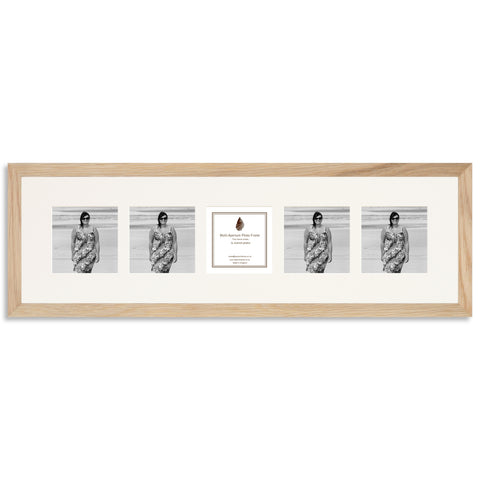 Image of a Solid Oak Photo Frame which holds five 4x4inch photos