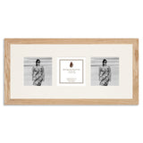 Image of a Solid Oak Photo Frame which holds three 4x4inch photos