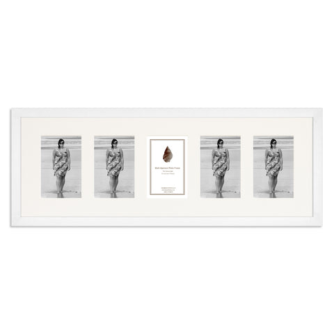 Image of a Matt White Photo Frame which holds five 6x4inch photos