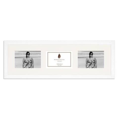 Image of Matt White Photo frame which holds three 6x4inch photos