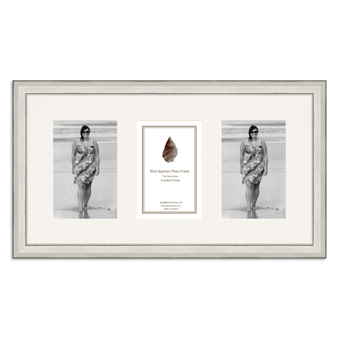 A Silver Photo Frame which holds three 6x4inch photos