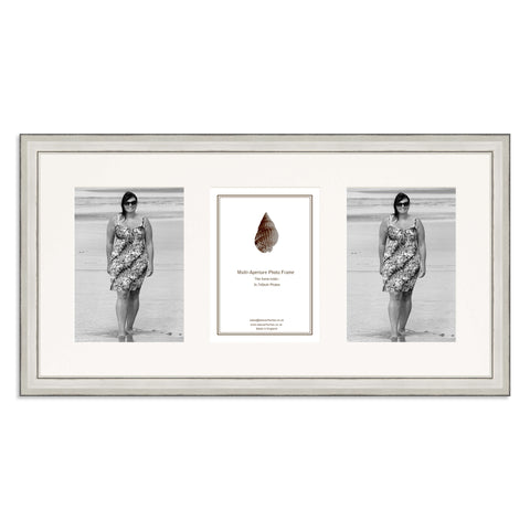 A Silver Photo frame which holds three 7x5inch photos