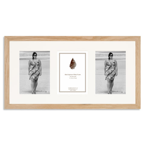 Image of a Solid Oak Photo Frame to hold three 7x5inch photos