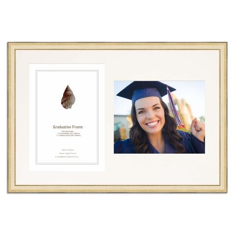 Gold Graduation Frame for A4 Certificate and 10x8/8x10inch Photo