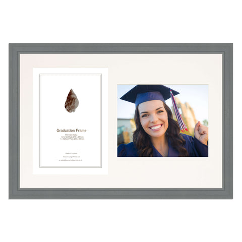 Grey Wooden Graduation Frame for A4 Certificate and 10x8/8x10in Photo